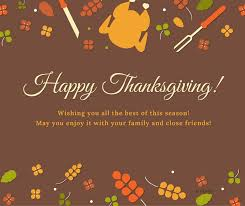 happy thanksgiving wishing you all the best of this season
