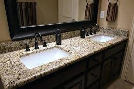 double sink granite vanity top sink countertops bathroom new gold drop in sinks double sink granite