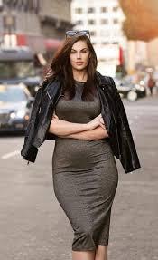 dress chloe marshall model curvy plus size grey dress midi