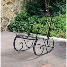 Metal Patio Rocking Chairs Wrought Iron Rocking Chair Vintage Patio Swing Outdoor Garden