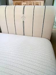 Fleur De Lis Headboard Fix Old Ladder Chair By Weaving New Seat Out Of Drop Cloth Fabric