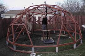 to build a geodome greenhouse northern homestead