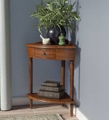 end table with shelves traditional small corner accent end phone table shelf drawer solid