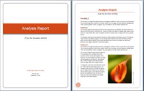 word document report templates business report word template analysis report cover and content
