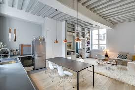 photo salon cuisine ouverte ouverte sur un salon contemporain
