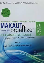 makaut wbut organizer mba 1st year 2nd semester popular