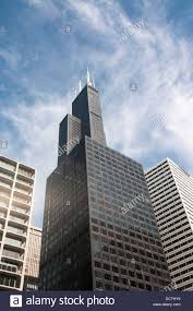 willis tower chicago looking up at the sears tower willis tower in chicago usa stock