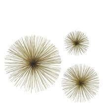 home decorators collection assorted metal gold star bursts wall