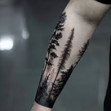 100 forest designs for masculine tree ink ideas