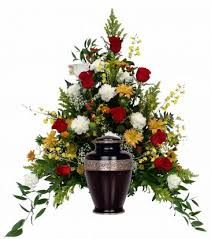 Flowers For Men - funeral flower arrangements for urns patriotic funeral flowers
