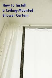 How To Hang A Curtain How To Install A Ceiling Mounted Shower Curtain