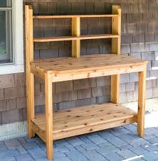 Free Wooden Potting Bench Plans by How To Build A Potting Bench Free Plan Home Design Garden
