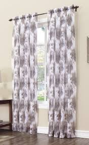 Grey Kitchen Curtains by Allessio Crushed Sheer Panel Plum Lichtenberg View All Curtains