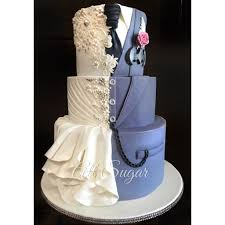 custom wedding cakes custom wedding cake wedding dress inspired wedding cake dual