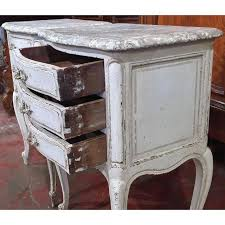 marble top bedside table exquisite 19th century french grey painted faux marble top bedside
