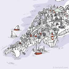 Map Of England by Liviwhit Com Olivia Whitworth Illustration