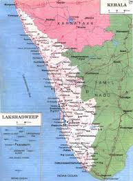 Kerala India Map by Kerala Map Pilgrimage Centres Beaches Hillstations Historical