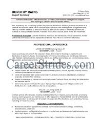 Legal Assistant Resume Examples by Secretary Resume Berathen Com