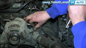 how to install replace remove alternator 2004 07 jeep liberty