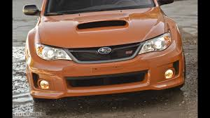 subaru black subaru wrx sti orange and black