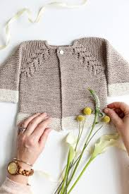 lovely knit top cardigan baby sweater flax twine
