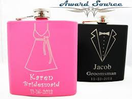 Bride And Groom Flasks 36 Best Personalized Monogram Flasks For Weddings Groom