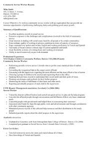 community service worker resume resume ideas