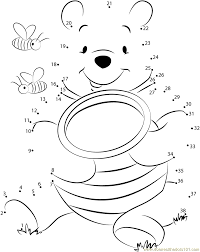 winnie pooh connect dots printable worksheets