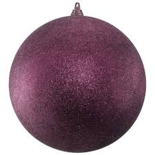 300mm glitter baubles mulberry dzd