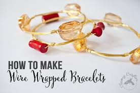 how to make wire wrapped bracelets u2014 clumsy crafter