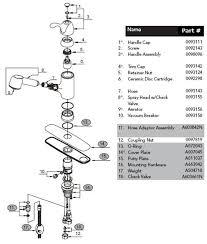 pegasus kitchen faucets parts pegasus kitchen faucet parts diagram 40 485parts current