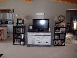 Shabby Chic Entertainment Center by Mrs Livin The Dream Trashed Dresser Turned Shabby Chic