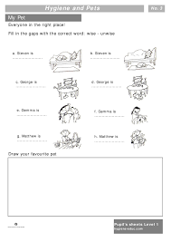 best ideas of health and hygiene for children worksheets on