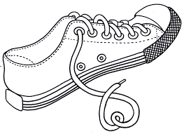 tennis shoe template to color free coloring pages on art