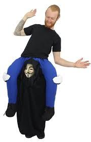 Piggyback Halloween Costume Piggy Fancy Dress Adults Vendetta Funny Halloween