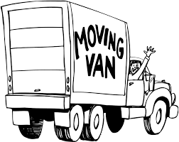truck clipart moving picture pencil color truck clipart