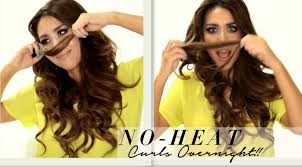 seriously easy no heat curls hairstyle u0026 wen 1st impression