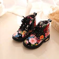 s lace up boots size 11 floral shoes baby fashion lace up martin boots children