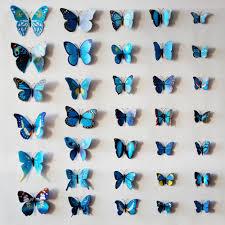 flowers butterfly wall sticker sakura butterfly wall paper cherry blue wall decor blue wall decorwall decor blue and brown blue butterfly wall decor