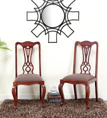 Dining Chairs Atlanta Buy Atlanta Dining Chair Set Of 2 In Brown Colour By Godrej
