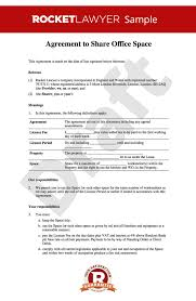 Business Letter Spacing Uk Sharing Agreement Office Rental Agreement Template Share Your