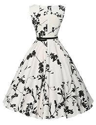 dress image grace karin boatneck sleeveless vintage tea dress with belt