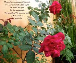 flowery blessing prayer of thanks for each new morning with it s