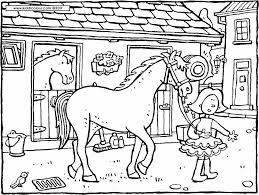 horses colouring pages kiddi kleurprenten