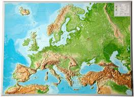 us relief map georelief 3d raised relief maps europe geographical model