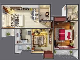 3 bedroom house plans 3d design with bathroom artdream luxihome