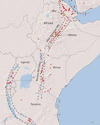 africa map great rift valley east rift volcanism volcanology earth hazards our