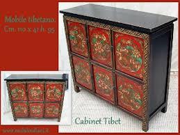 credenza tibetana mobilindiani by merone venanzio mobili etnici e complementi