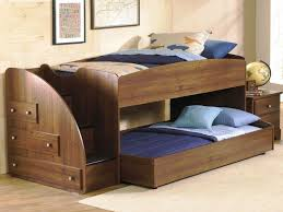 Bunk Bed With Stairs And Trundle Bedroom Bunk Beds With Stairs And Desk And Slide Tv Above