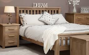Wooden Bedroom Furniture Bedroom With Grey Walls And Solid Oak Furniture Also White Bedding